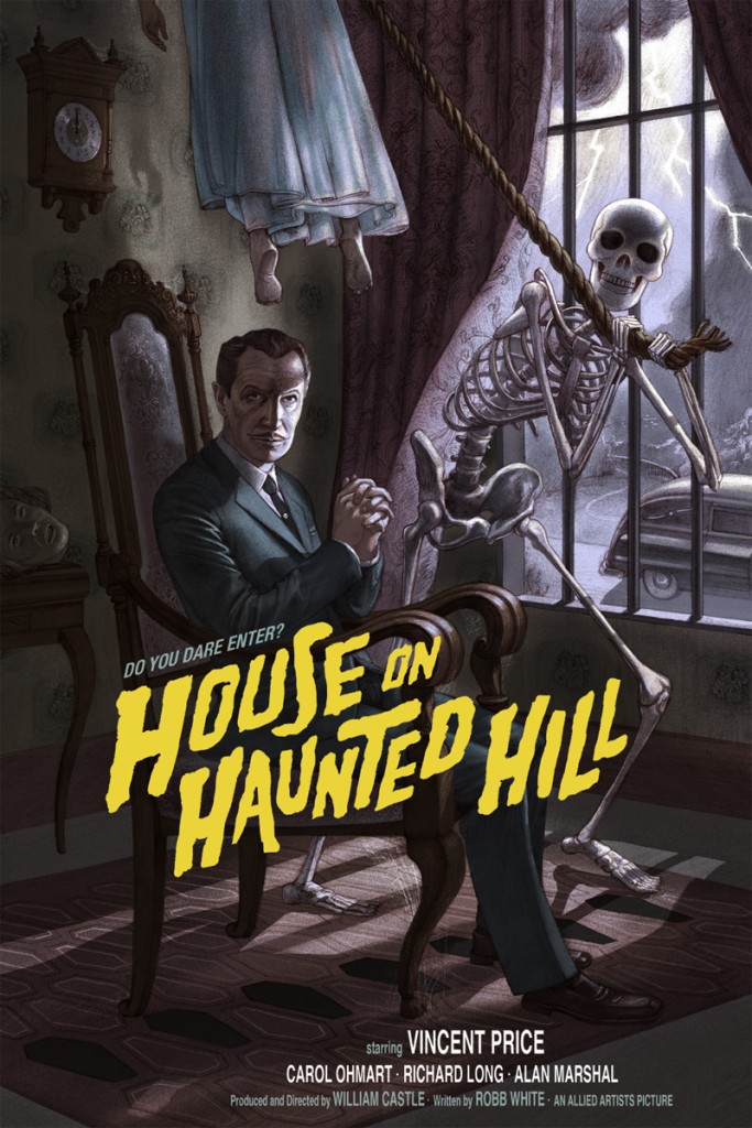 Mondo S House On Haunted Hill Poster Pays Emergo Mage