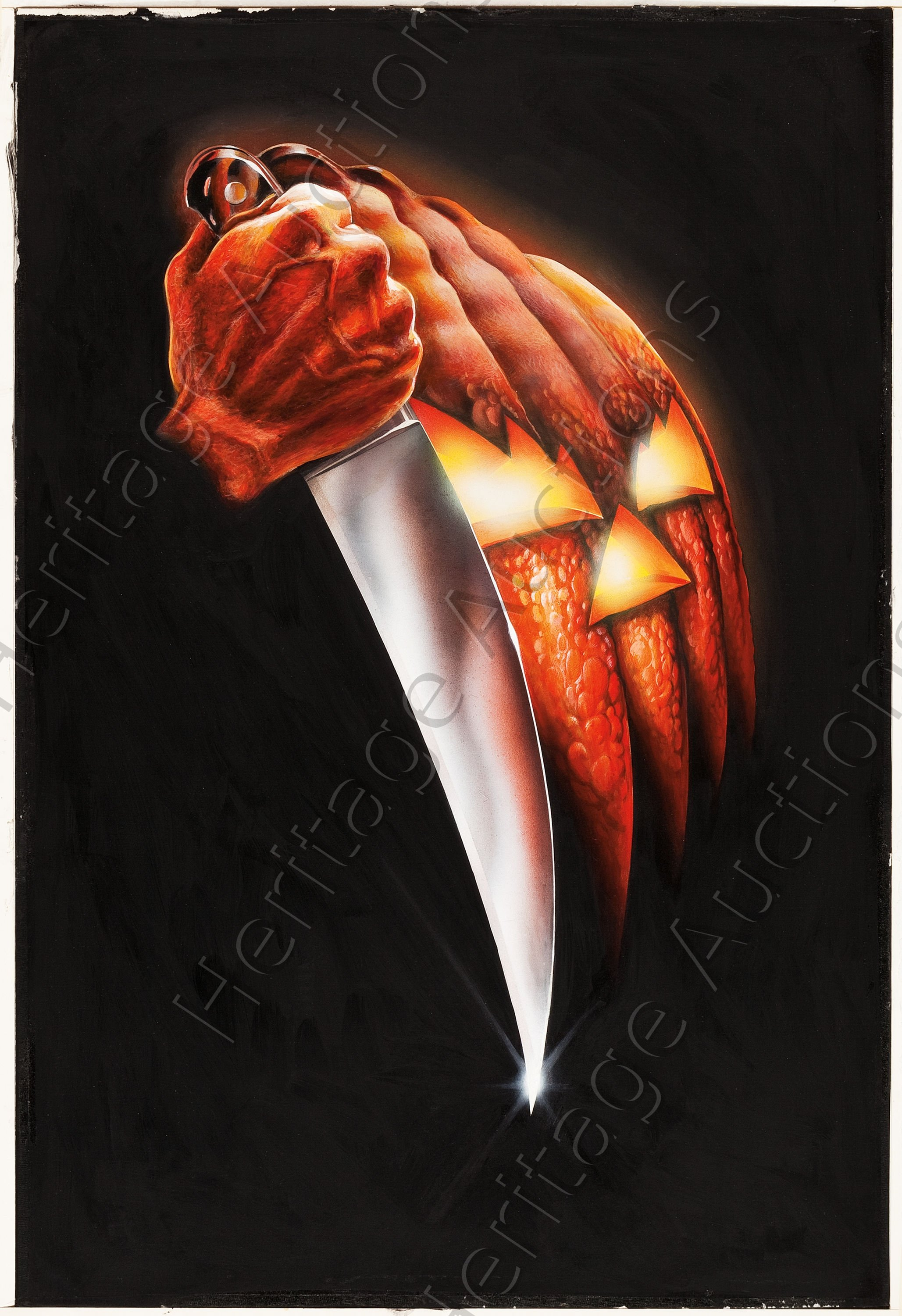 Halloween 1978 Movie Poster.Original Poster Art From Carpenter S Halloween Up For