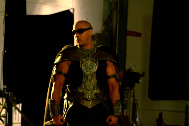 Set Pictures of Vin Diesel from Riddick