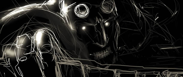 Storyboards from Riddick