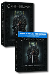 Game of Thrones - The Complete First Season on DVD Blu-ray today