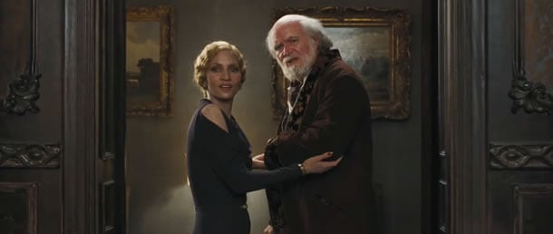 Halle Berry and Jim Broadbent in Cloud Atlas