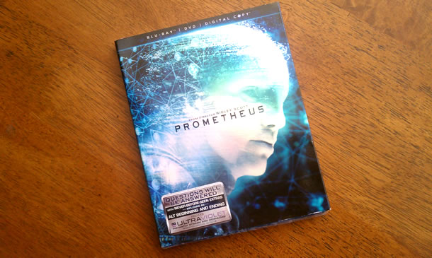 Prometheus Blu-ray Arrived
