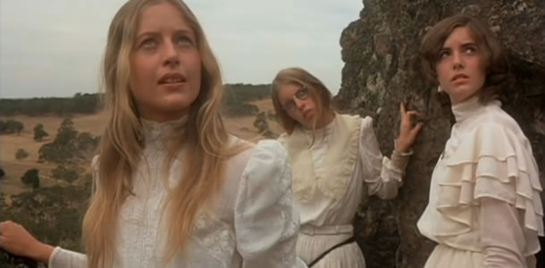 Anne-Louise Lambert, Jane Vallis and Karen Robson in Picnic at Hanging Rock