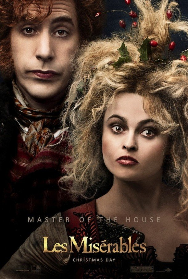Les Miserables Poster - Sacha Baron Cohen and Helena Bonham Carter