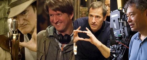 (from left to right) Quentin Tarantino, Tom Hooper, David O. Russell and Ang Lee
