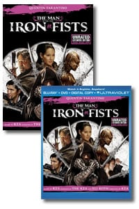 The Man with the Iron Fists on DVD Blu-ray today
