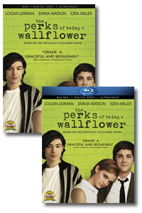 The Perks of Being a Wallflower on DVD Blu-ray today