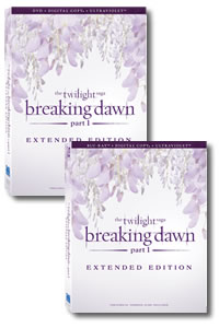 The Twilight Saga: Breaking Dawn - Part 1 Extended Edition on DVD Blu-ray today