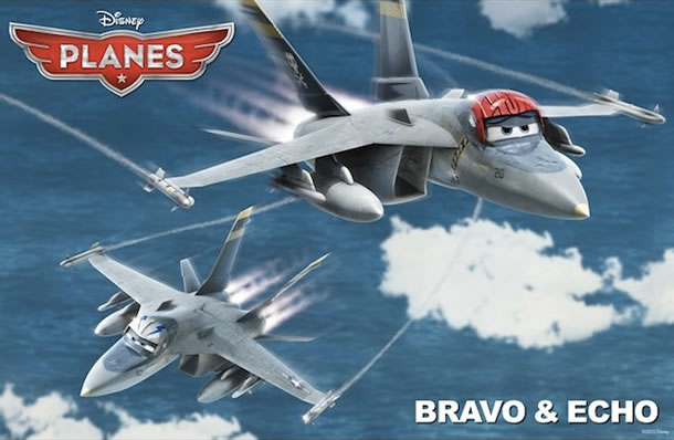Anthony Edwards and Val Kilmer will voice Bravo and Echo in Planes