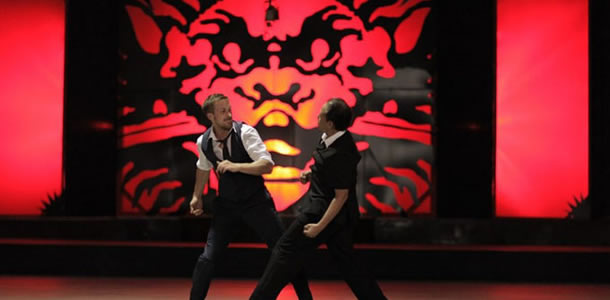 Ryan Gosling and Vithaya Pansringarm in Only God Forgives