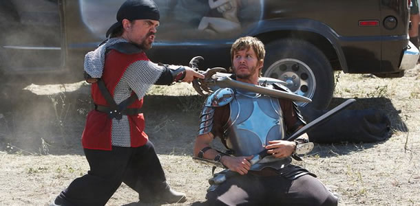 Peter Dinklage and Ryan Kwanten in Knights of Badassdom