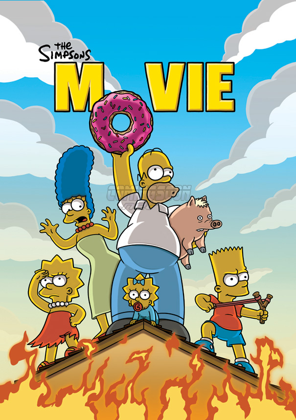 new simpsons movie poster comingsoonnet