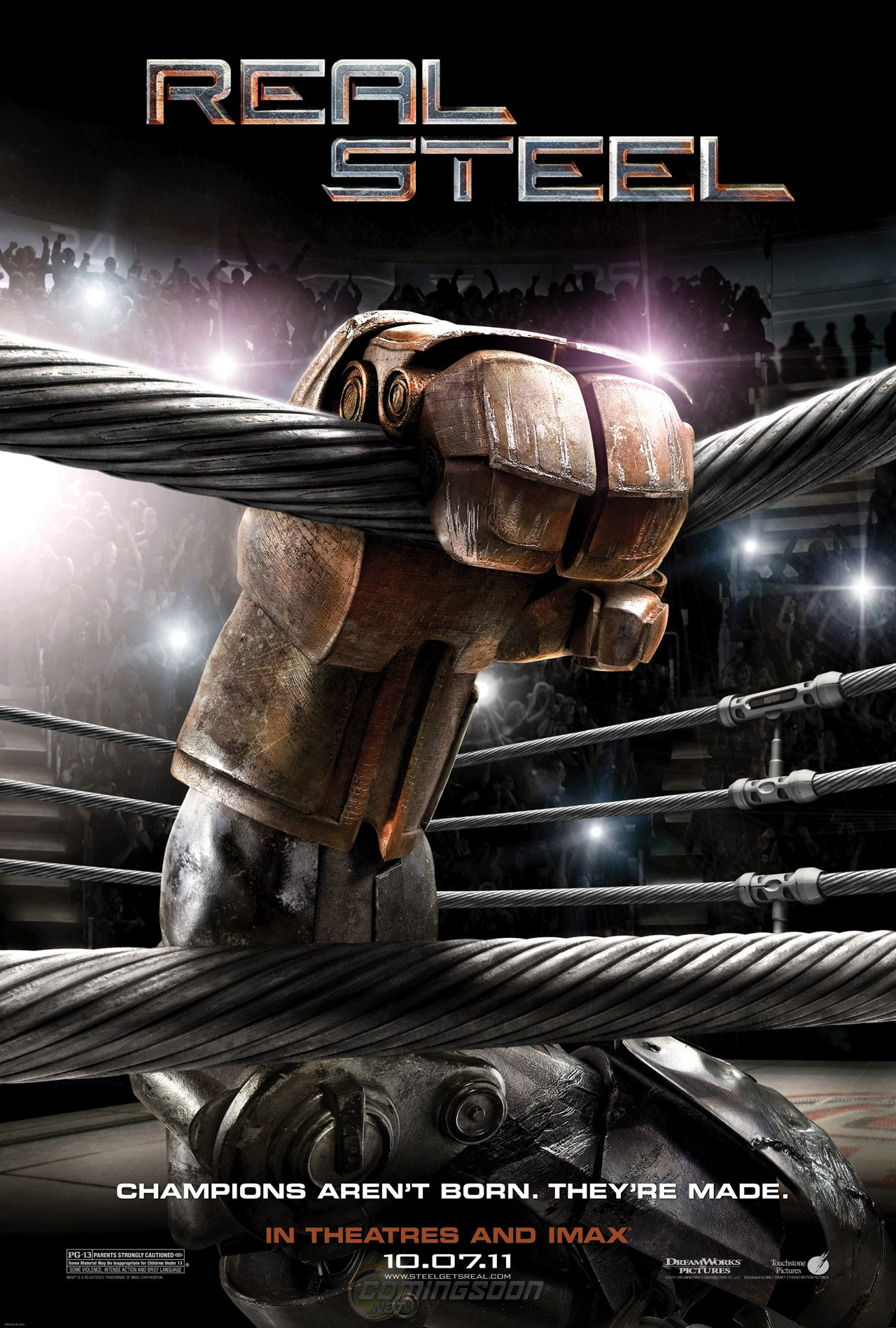 Exclusive The Poster For Real Steel Comingsoon Net