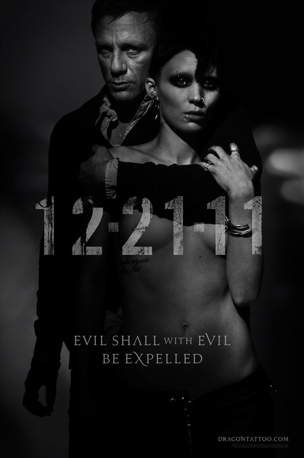 Two New Posters for The Girl with the Dragon Tattoo - ComingSoon.net The Girl With The Dragon Tattoo Poster