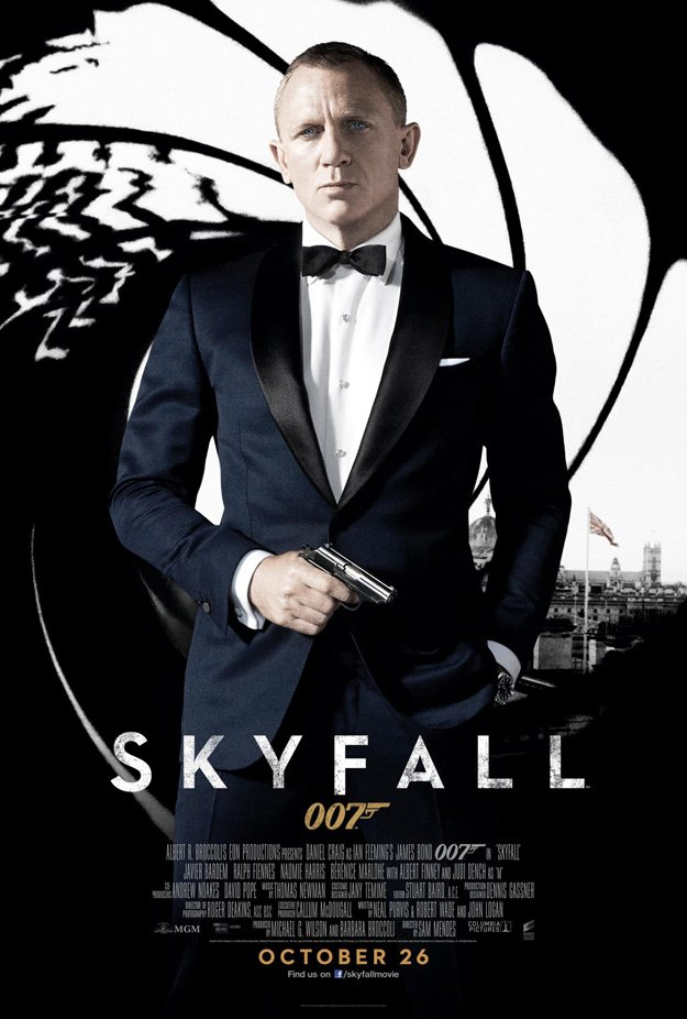 New UK Poster for the 23rd James Bond Movie, Skyfall - ComingSoon.net
