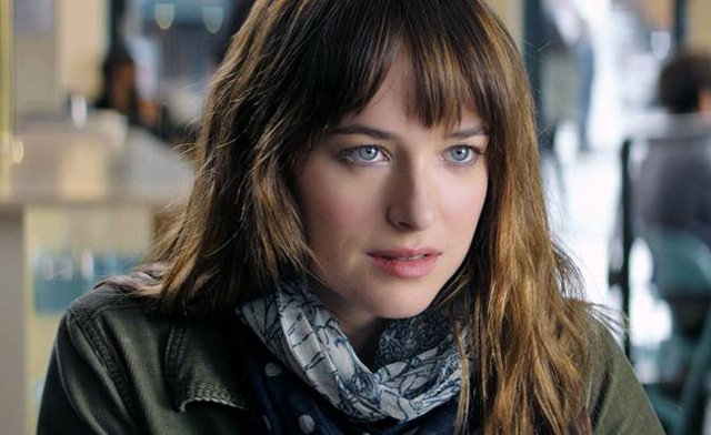 Dakota Johnson as Anastasia Steele in Fifty Shades of Grey