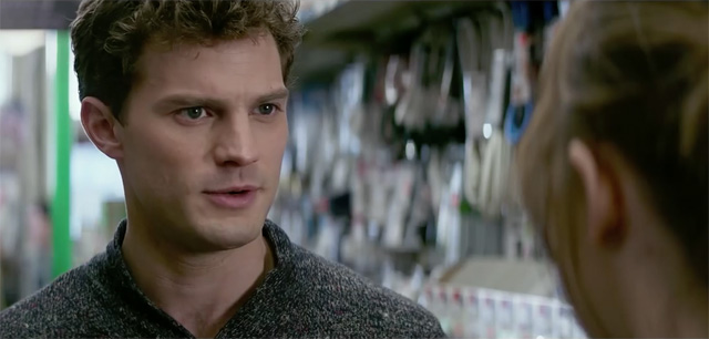Fans looking forward to watching Christian Grey and Anastasia Steele interact in Clayton's Hardware store.