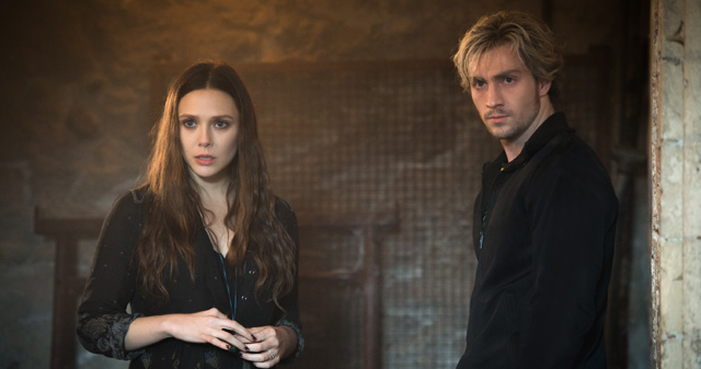 Twin siblings Pietro and Wanda Maximoff are undecided on which side to fight in Avengers: Age of Ultron.