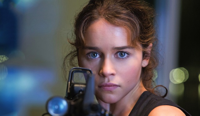 Emilia Clarke plays Sarah Connor in the new film, Terminator Genisys.