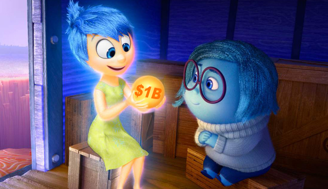 Inside Out has helmed Disney break its record to $1 billion dollars in domestic box office receipts for 2015.