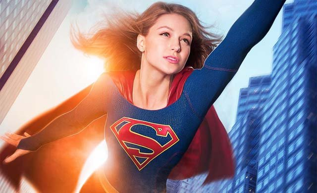 Melissa Benoist flies high on a new Supergirl poster.