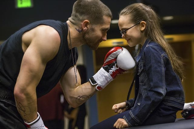Jake Gyllenhaal and Oona Laurence star in Antoine Fuqua's SOUTHPAW.