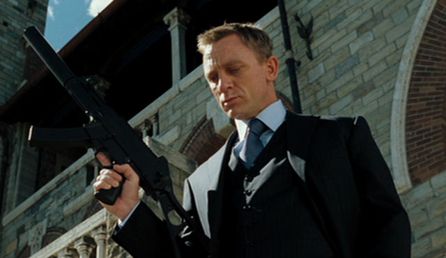Daniel Craig has been in four different James Bond movies... so far!