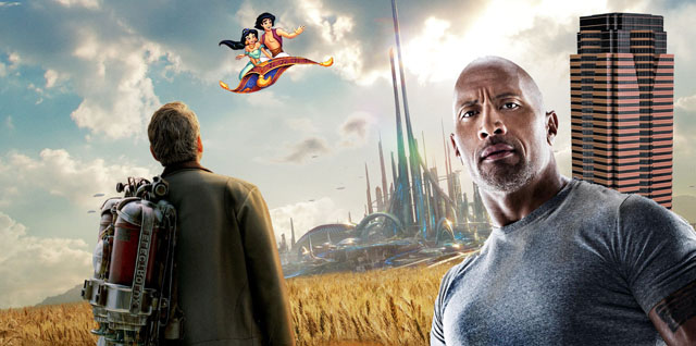 Titles arriving october 13 include tomorrowland aladdin san andreas