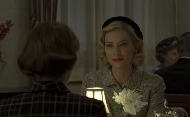 (L-R) ROONEY MARA and CATE BLANCHETT star in CAROL.