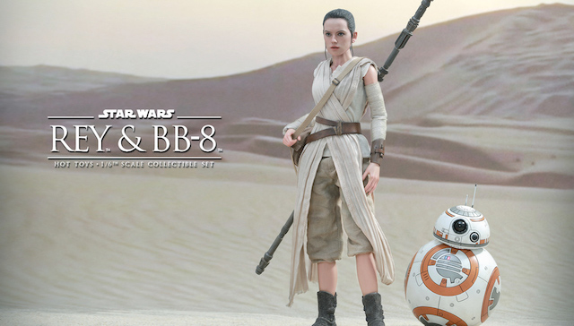 Check out the Hot Toys Rey figure from Star Wars: The Force Awakens.