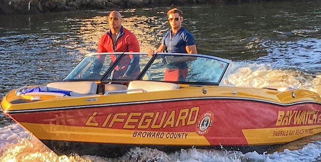 Dwayne Johnson just shared a new Baywatch photo.