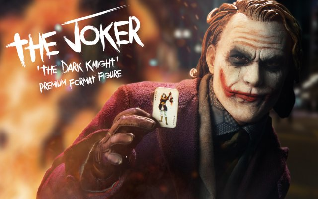 Exclusive Photo of Sideshow's Joker Premium Format Figure from The Dark Knight
