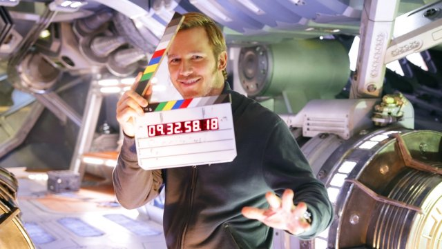 Chris Pratt Tours The Milano in Guardians of the Galaxy Vol. 2 Set Video