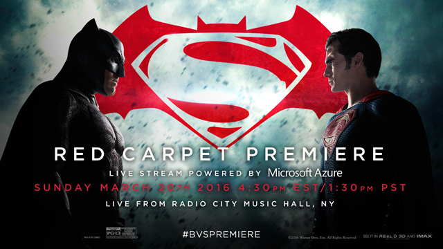 Batman v Superman Red Carpet Premiere Live Stream