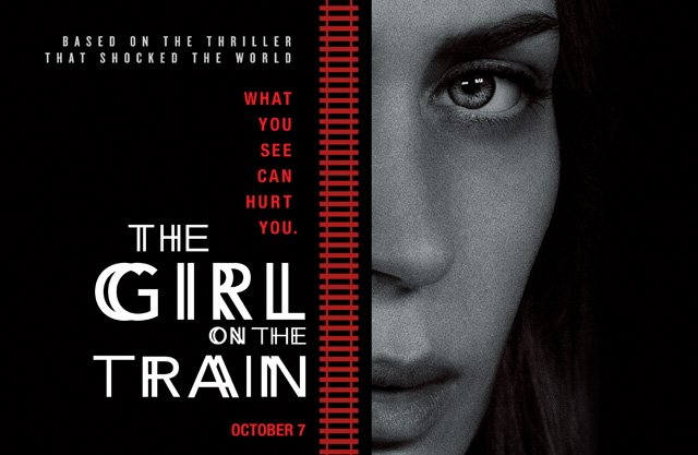 Emily Blunt in The Girl on the Train Trailer and Poster
