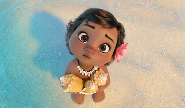Baby Moana Plays With the Ocean in This Adorable Disney Trailer