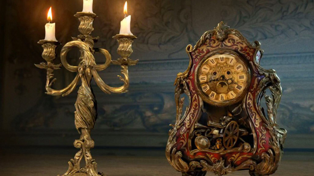 Meet Beauty and the Beast's Cogsworth and Lumiere.