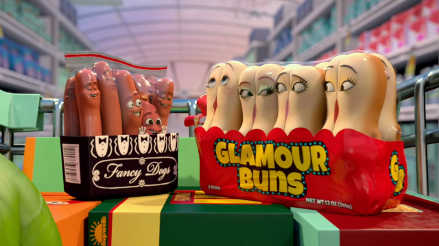 Work Those Buns with a Red Band Sausage Party Clip