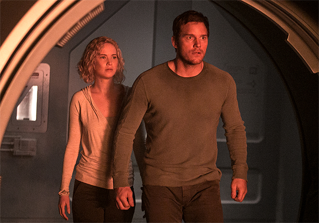New Passengers Photos With Jennifer Lawrence & Chris Pratt