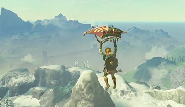 New Video of the Paraglider in The Legend of Zelda: Breath of the Wild