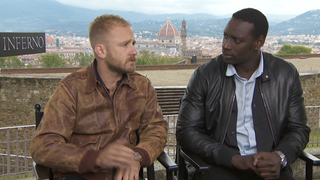 Omar Sy and Ben Foster talk Inferno with CS.
