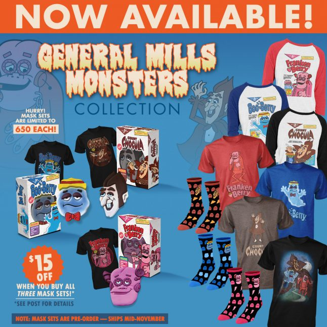 Monster Cereal Clothing Line Coming from Fright-Rags