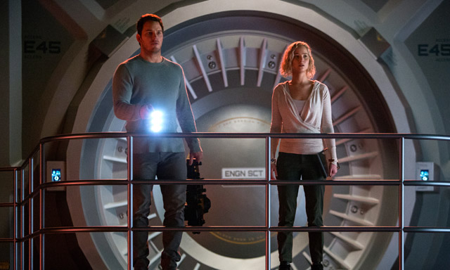 New Passengers Photos Featuring Jennifer Lawrence and Chris Pratt