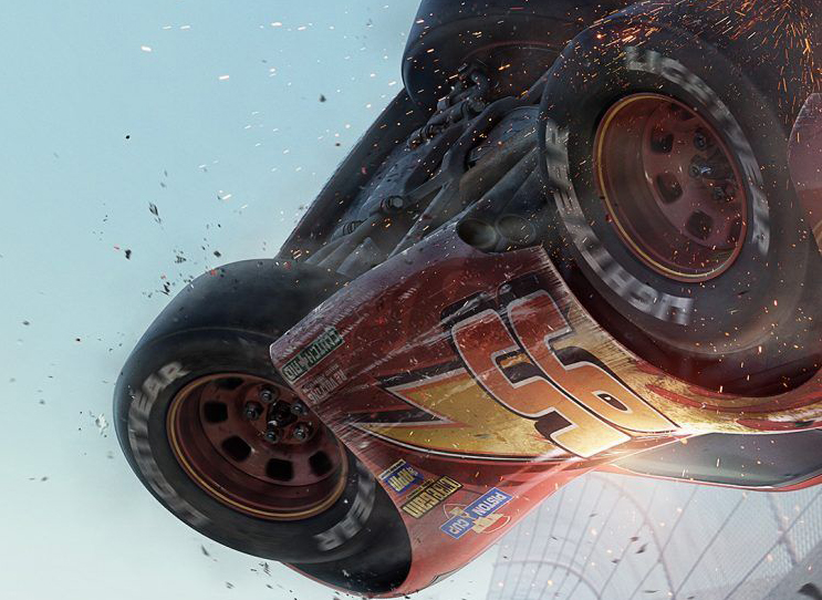 Lightning Crashes in the New Cars 3 Poster