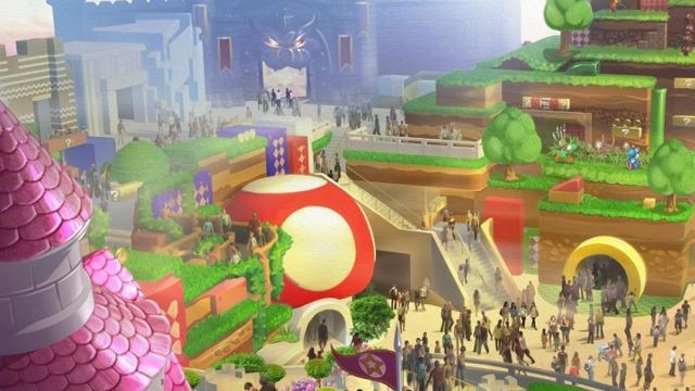Concept Art for Universal Studios Japan's Super Nintendo World