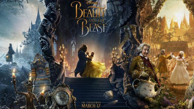 Beauty and the Beast Triptych Poster Features the Human Characters