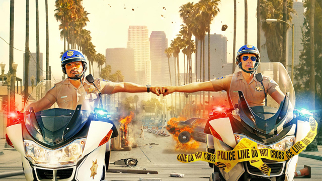 Michael Peña and Dax Shepard Ride in Style on the CHiPs Poster