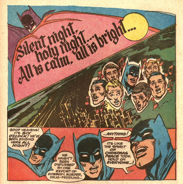 Christmas stories make for strange, strange Batman stories.