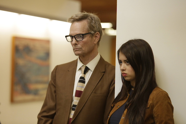 "LEGION -- ""Chapter 2"" (Airs Wednesday, February 15, 10:00 pm/ep) -- Pictured: (l-r) Bill Irwin as Cary Loudermilk, Amber Midthunder as Kerry Loudermilk. CR: Michelle Faye/FX"